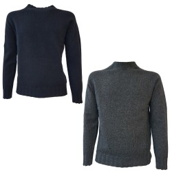 H953 SPORT crewneck sweater in 50% extrafine merinos wool 50% yak MADE IN ITALY