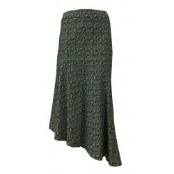 24.25 asymmetrical woman skirt white / black fantasy cotton DD20 759 MADE IN ITALY