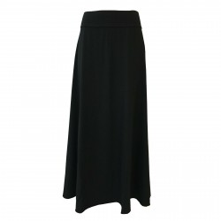 LABO.ART long black woman skirt in winter cotton FIASCO JERSEY MADE IN ITALY
