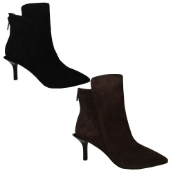 WO MILANO low boot woman suede heel 7 cm art W972 MADE IN ITALY