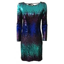 HANITA woman dress sleeveless with applications art V2145.452 MADE ITALY