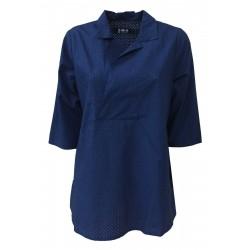 LABO.ART camicia manica a 3/4 cotone forato bluette art RIDGE FORELLO MADE IN ITALY