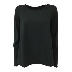 LABO.ART women's black flared shirt in cotton SCORPIO JERSEY MADE IN ITALY