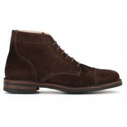 ASTORFLEX Shoe with laces in suede DARK CHESTNUT ALDFLEX 724 MADE IN ITALY