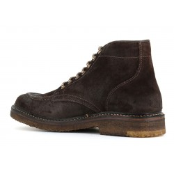 ASTORFLEX Shoe with laces in Dark Chestnut suede ANFIBIO NUVOFLEX MADE IN ITALY