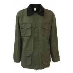 HANCOCK giaccone uomo verde militare con tasche art GW01 MADE IN SCOTLAND
