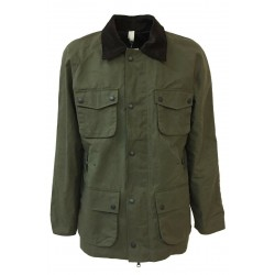 HANCOCK military green man jacket with pockets art GW01 MADE IN SCOTLAND