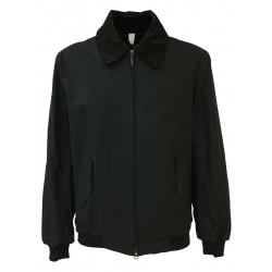 HANCOCK giubbino corto uomo cotone nero con zip GW03 MADE IN SCOTLAND