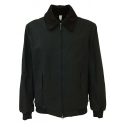HANCOCK men's black cotton short jacket with zip GW03 MADE IN SCOTLAND