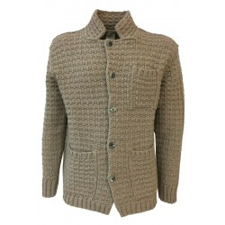 H953 giacca uomo lana con bottoni beige HS3052 BLAZER WAFFLE MADE IN ITALY