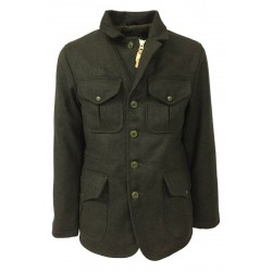 MANIFATTURA CECCARELLI men's military jacket in Casentino cloth mod 7028-QR ALLIGATOR JACKET MADE IN ITALY