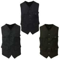 MANIFATTURA CECCARELLI men's vest in Casentino cloth mod 7906-QR MINER VEST MADE IN ITALY