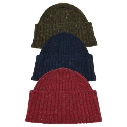 DRAKE'S LONDON cappello lana a coste mod HAT-67 MER-20763 MADE IN SCOTLAND