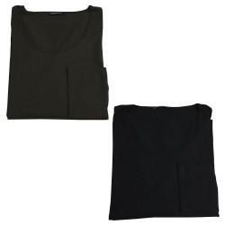 MARINA SPORT by Marina Rinaldi t-shirt woman deep round long sleeve art FRACTURE