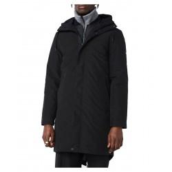 ELVINE giacca invernale Parka nera con cappuccio imbottito in Thermore mod. ERIX