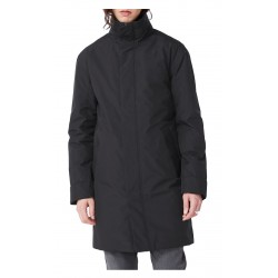 ELVINE black coat with hood, padded with Thermore mod. PRESCOTT