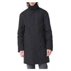 ELVINE cappotto nero con cappuccio, imbottito in Thermore mod. PRESCOTT