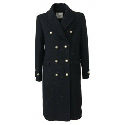 FRONT STREET 8 cappotto uomo lana blu/nero doppiopetto FR281/B RESCA DOUBLE BRASTED COAT MADE IN ITALY