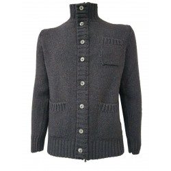 H953 man wool jacket in dark melange / blue color MADE IN ITALY