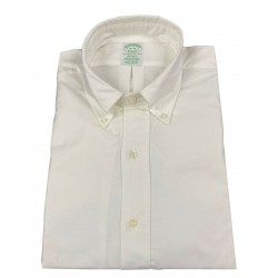 BROOKS BROTHERS white button-down oxford long sleeve shirt MILAN MADE IN USA