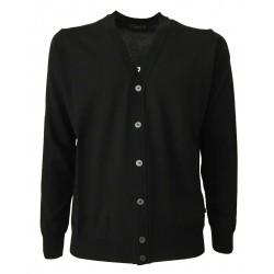 FERRANTE black man cardigan 100% wool MADE IN ITALY