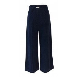 HUMILITY 1949 blue corduroy woman trousers art HN2061 100% cotton MADE IN ITALY