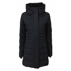 NORWAY blue woman down jacket with fixed hood 05582 MERYL