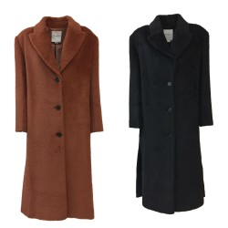 ISABELLE BLANCHE woman coat 1 breast with side slits IS20FW-3226-T046 MADE IN ITALY