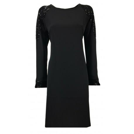 LA FEE MARABOUTEE black long sleeve woman dress art FC5114 MADE IN ITALY