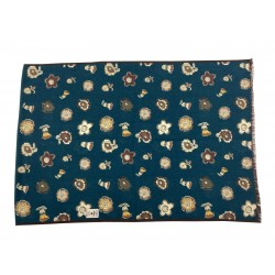 FUMAGALLI foulard petroleum fantasy flowers dark border HISTORICAL COLLECTION PLAN WO G-02 100% wool MADE IN ITALY
