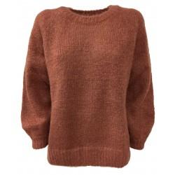 DES PETITS HAUTS woman long sleeve crewneck sweater phard / lurex art CONNIE