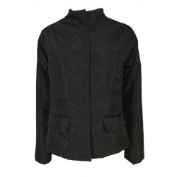 TADASHI short trapeze woman jacket with snap button pockets black art TAI216003 MADE IN ITALY