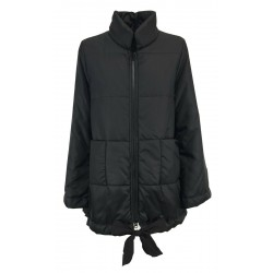 TADASHI black padded woman jacket with zip and pockets art TAI216011 MADE IN ITALY