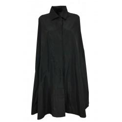 TADASHI black taffeta woman cape art TAI216047 MADE IN ITALY