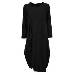 TADASHI dress woman black technical fabric art TAI21K1057 MADE IN ITALY