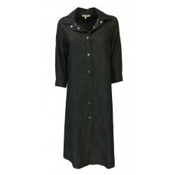 HUMILITY 1949 abito donna jeans leggero nero art HB2077 100% cotone MADE IN ITALY