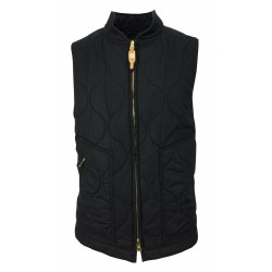MANIFATTURA CECCARELLI men's black quilted vest 7914 100% cotton MADE IN ITALY