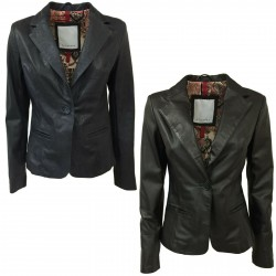 BLUSOTTO woman jacket in nappa leather 1 button art MALALA 100% leather MADE IN ITALY