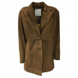 BLUSOTTO woman suede jacket over art GIADA 100% leather MADE IN ITALY