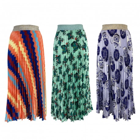 IL THE DELLE 5 pleated woman skirt art H / LILY 56ST 100% polyester MADE IN ITALY