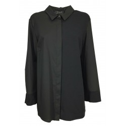 JO.MA woman shirt long sleeves bi-material jersey + fabric over TR20 311 MADE IN ITALY