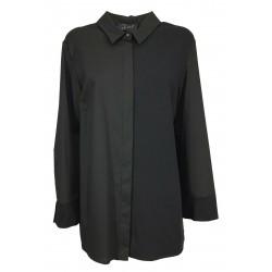 JO.MA camicia donna manica lunga bimateriale jersey+tessuto over TR20 311 MADE IN ITALY