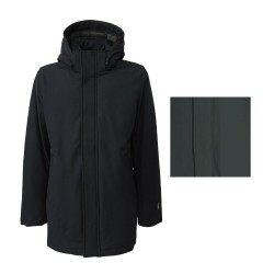 NORWAY men's jacket with detachable hood concealed zip and snap closure 05720 AKSEL
