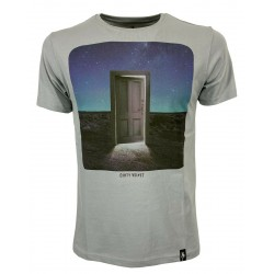 DIRTY VELVET Gray man t-shirt mod THE PORTAL DV76922 100% organic cotton