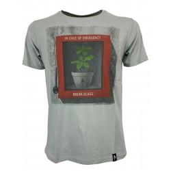 DIRTY VELVET Gray man t-shirt mod BREAKING POINT DV76927 100% organic cotton