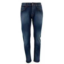 REIGN jeans uomo denim scuro con scoloriture art 19012376 FRESH GRANT MADE IN ITALY