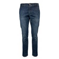"""REIGN pantalone uomo denim leggero tasche laterali art 19011951 NEW ALBERT """"BARRETO"""" MADE IN ITALY"""