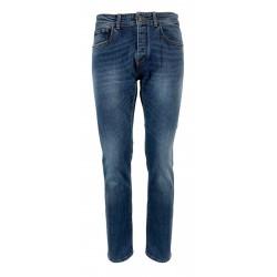 REIGN jeans uomo denim chiaro con scoloriture art 19012375 FRESH COLOMBIA MADE IN ITALY
