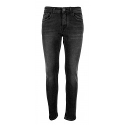 REIGN jeans man black washed art 19012455 FRESH YUCON MADE IN ITALY