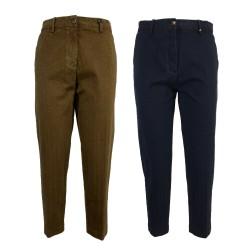 MYTHS pantalone donna vita mod chino cotone diagonale invernale 20WD07 MADE IN ITALY